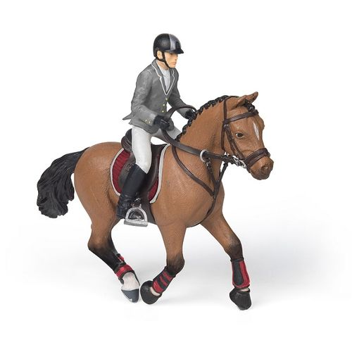 Papo 51561 competition horse with rider 14 cm Horses