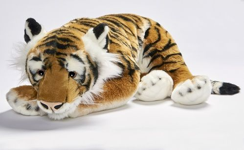 Anima 1928 tiger (brown) lying 70 cm soft-toy