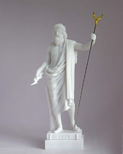 Maska 3-780W Zeus 16 cm alabaster white series god