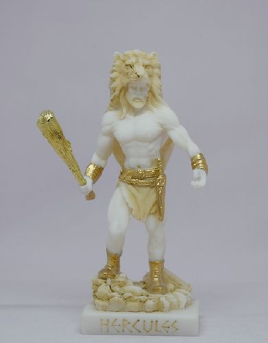 Maska 3-714P Herakles 15 cm alabaster patina series god