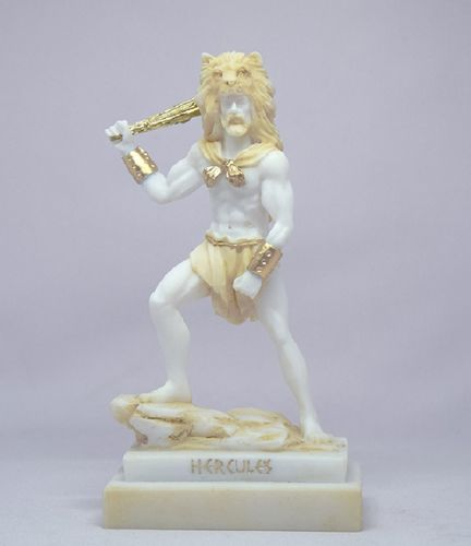Maska 4-771P Herakles 19 cm alabaster patina series god