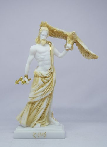 Maska 5-745P Zeus 21 cm alabaster patina series god