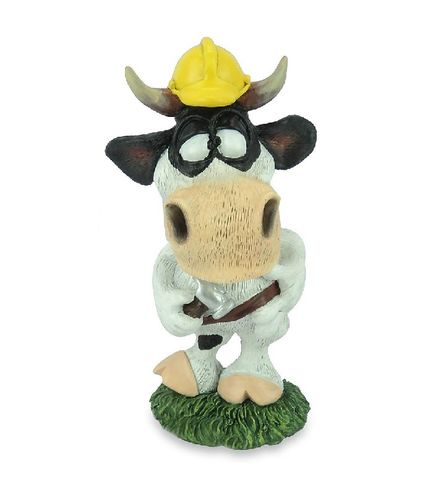 Les Alpes 014 81510 construction worker 11 cm synthetic resin Funny Decoration Series Bull Berni