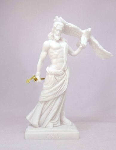 Maska 3-601W Zeus 16 cm alabaster white series god