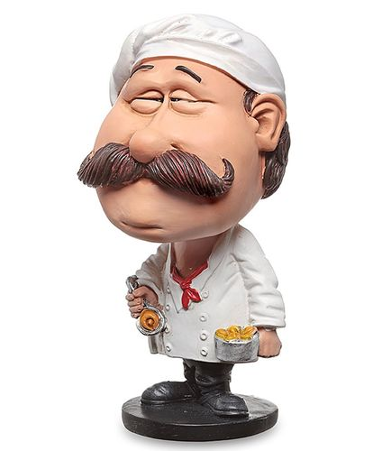 Les Alpes 010 10004 chef 14 cm Bobblehead synthetic resin Funny Decoration Series Jobs