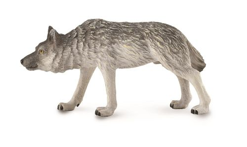 Collecta 88845 Timberwolf jagend 9 cm Wildtiere