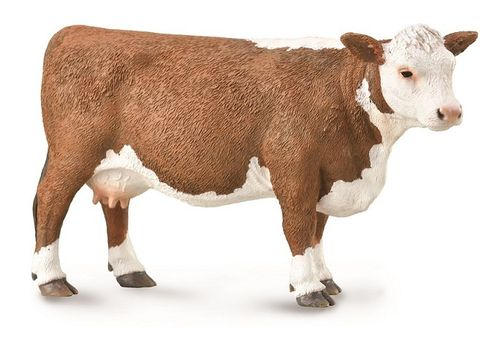 Collecta 88860 Hereford-Kuh 12 cm Bauernhoftiere
