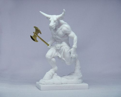 Maska 4-713W Minotaurus 15 cm alabaster white series god
