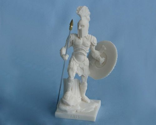 Maska 5-693W Ares 22 cm alabaster white series god