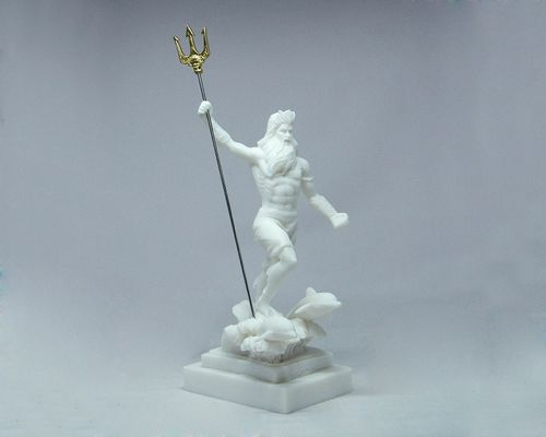 Maska 5-692W Poseidon 23 cm alabaster white series god