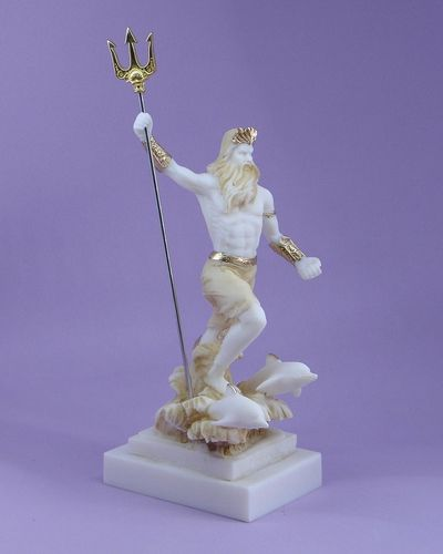 Maska 5-692P Poseidon 23 cm alabaster patina series god