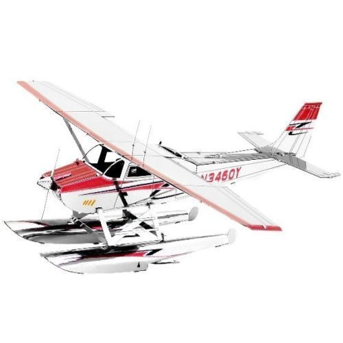 Metal Earth 1111 Cessna 182 Floatplane 3D-Metall-Bausatz original Metal Earth