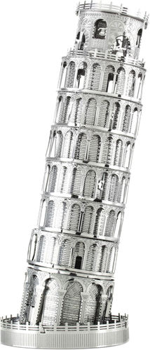 Metal Earth 1046 Schiefer Turm von Pisa 3D-Metall-Bausatz Silver-Edition