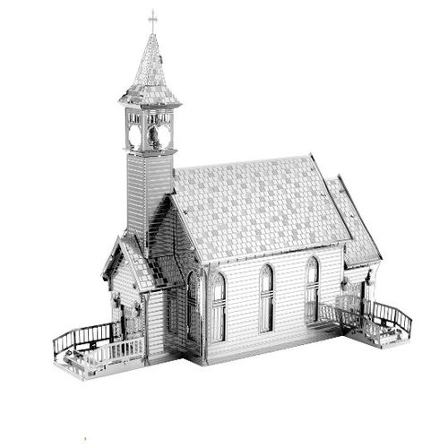 Metal Earth 1156 Old Country Church Kirche 3D-Metall-Bausatz original Metal Earth