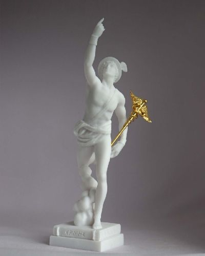 Maska 3-783W Hermes 16 cm alabaster white series god