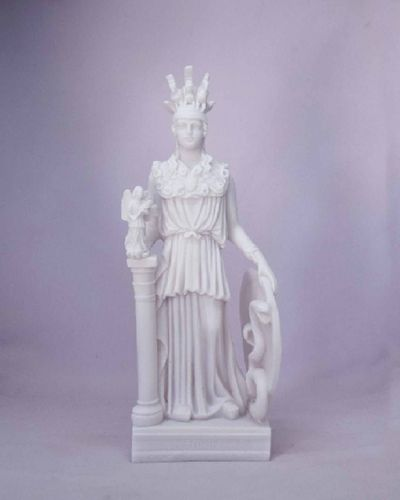 Maska 3-614W Athena 17 cm alabaster white series god