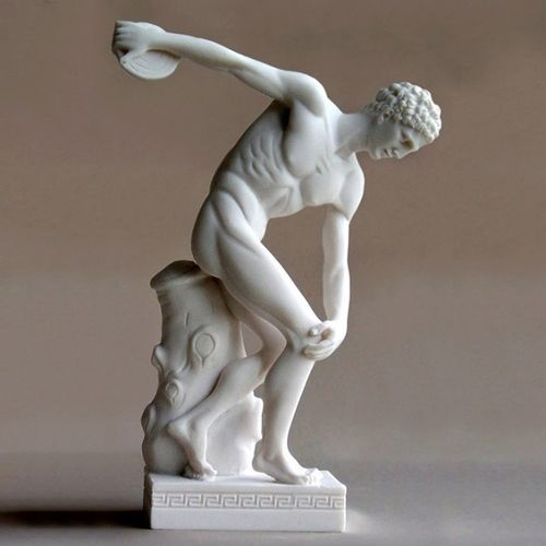 Maska 4-080W Discobolus Discus thrower 22 cm alabaster white series god