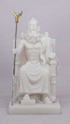 Maska 3-772W Zeus 13 cm alabaster white series god