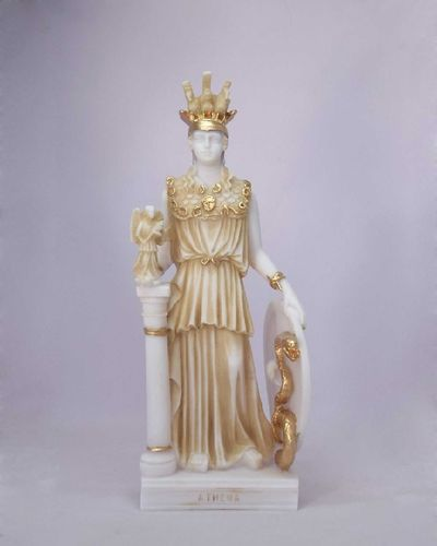 Maska 6-133P Athena 27 cm alabaster patina series god