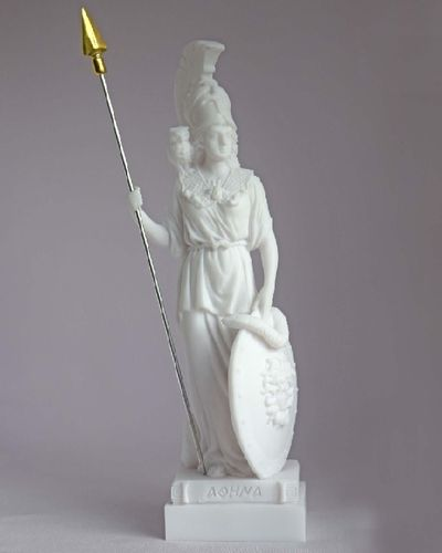 Maska 3-781W Athena 17 cm alabaster white series god