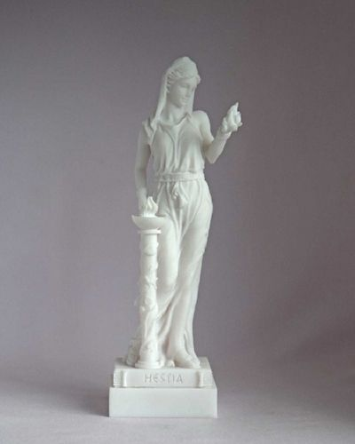 Maska 3-790W Hestia 16  cm alabaster white series god