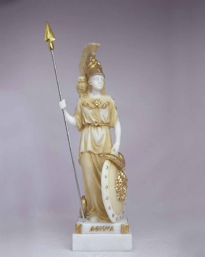 Maska 3-781P Athena 17 cm alabaster patina series god