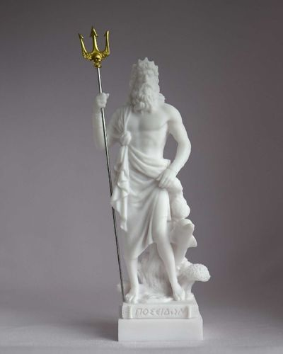 Maska 3-784W Poseidon 16 cm alabaster white series god