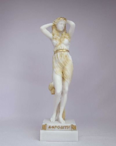 Maska 3-792P Aphrodite 16 cm alabaster patina series god