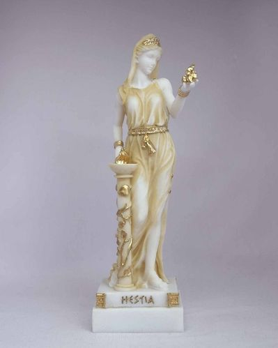 Maska 3-790P Hestia 16 cm alabaster patina series god