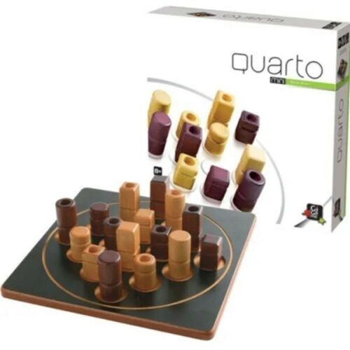 Gigamic Quarto mini wooden game strategy game for 2 players