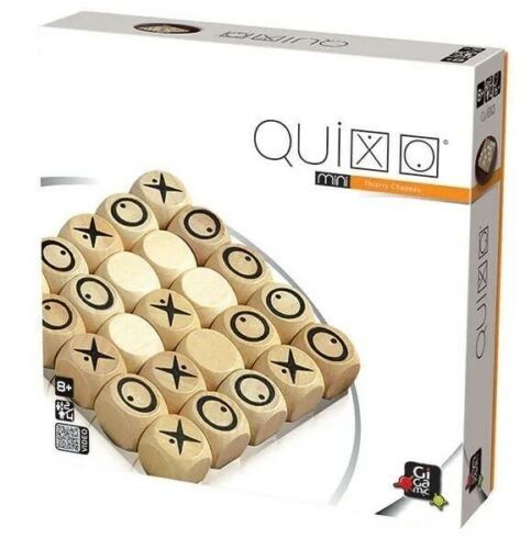 Gigamic Quixo mini wooden game strategy game for 2-4 players