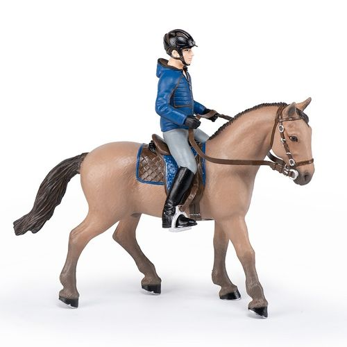Papo 51565 rider with hiking horse cm horse world